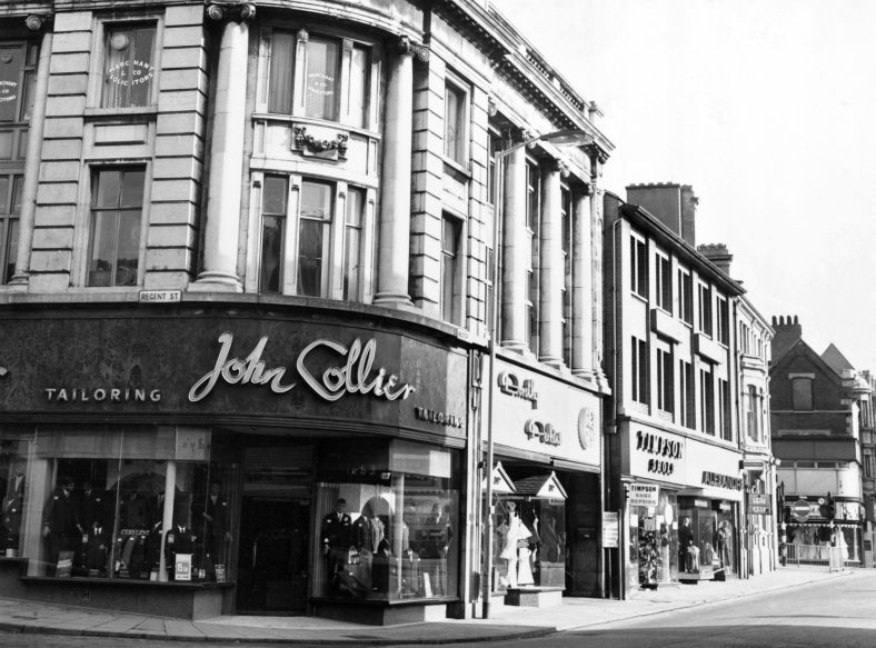 Corner view of Regent Street with John Collier menswear shop | Inspire: Culture, Learning and Libraries