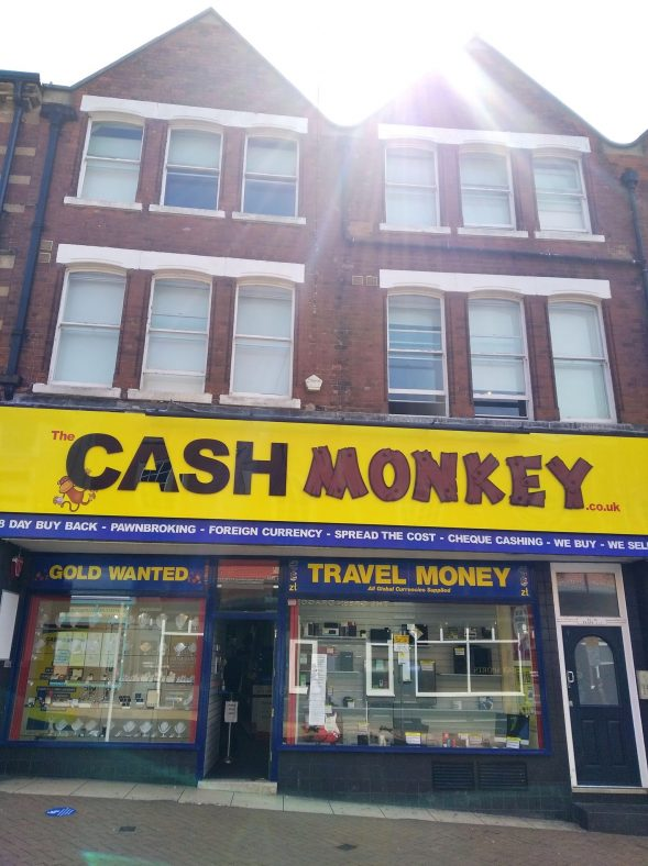 The Cash Monkey, pawnbrokers, at 24-26 Leeming Street in 2020 | Photo by Stephanie Bognar