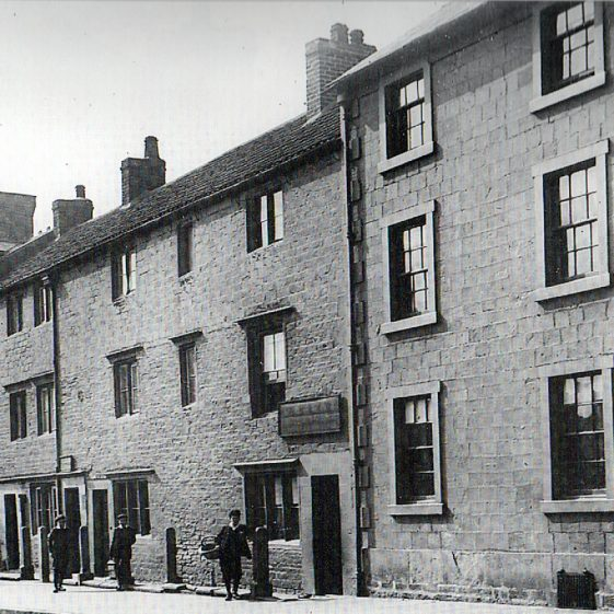 Old black and white photo of Leeming Street in the late 1800s | Courtesy of D. Hill