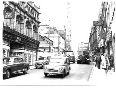 Old black and white photo of Leeming Street in 1964 | Courtesy of D. Hill