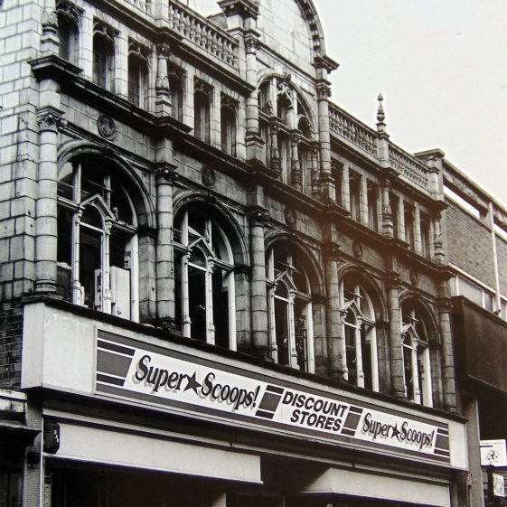 Old black and white photo of Super Scoops at 11 Leeming Street   Courtesy of D. Hill