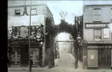 Old black and white photo of Leeming Street during Queen Victoria's Golden Jubilee in 1887 | Courtesy of D. Hill