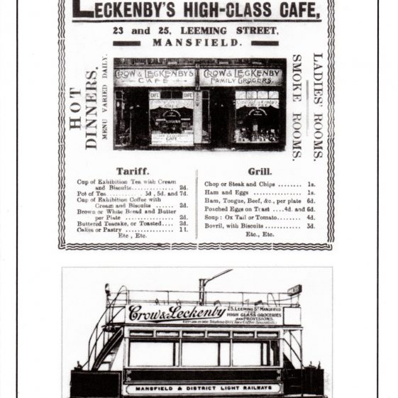 Advertising poster and menu for Leckenby's high-class cafe and grocer | Courtesy of D. Hill