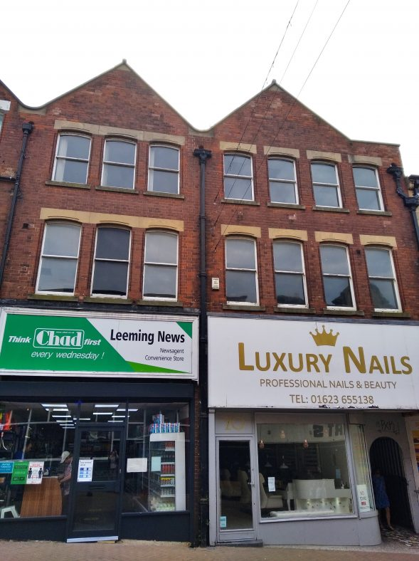 Leeming News, newsagent, and Luxury Nails, salon, at 20-22 Leeming Street in 2020 | Photo by Stephanie Bognar