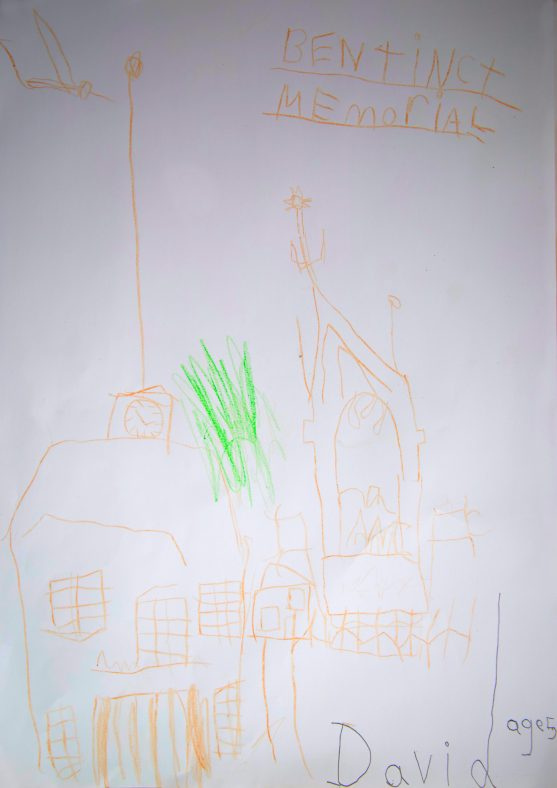 Drawing of the Bentinck Memorial by David Velebny age 5