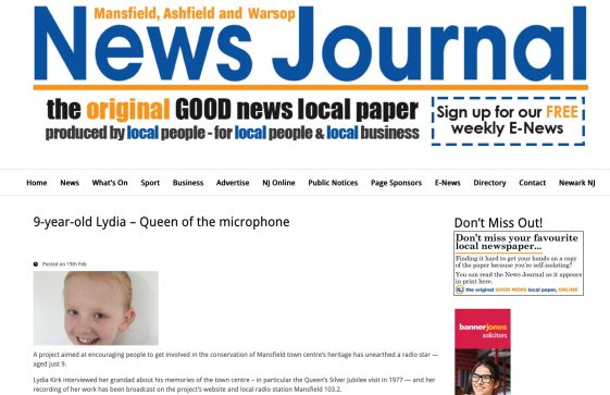 March 2021 - Mansfield Townscape in the News